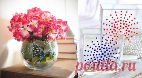 Ручная роспись вазы: 3 мастер-класса и 45 идей декора
