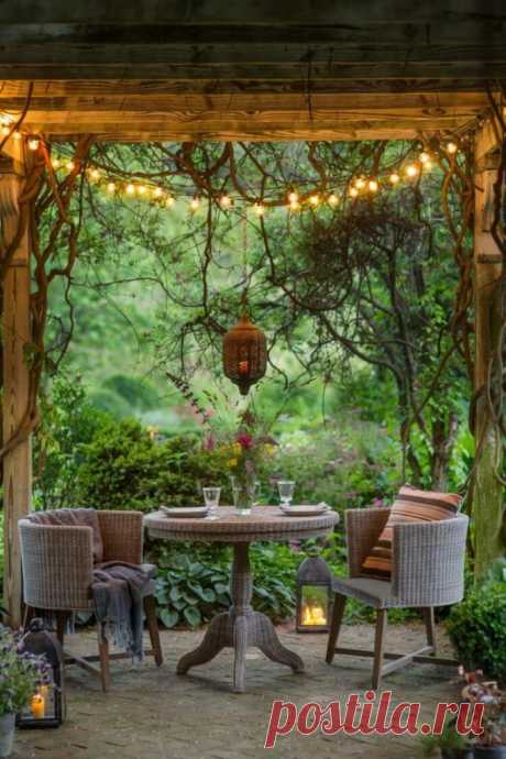 Уютный уголок в саду: 40 идей ~ ALL-DEKOR