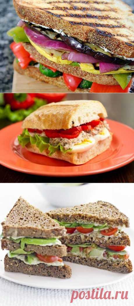 6 рецептов вкусных вегетарианских сэндвичей / Простые рецепты