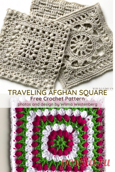 Tulip Afghan Square Free Crochet Pattern - Knit And Crochet Daily