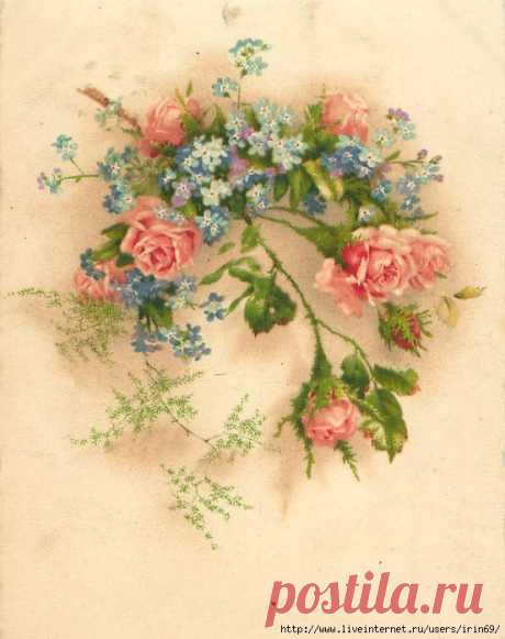 Pin by IRINA INKS on FLOWERS & PICTURES. | Vintage cards