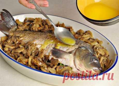 Рецепты запеченной речной рыбы - Перчинка Хозяюшка -