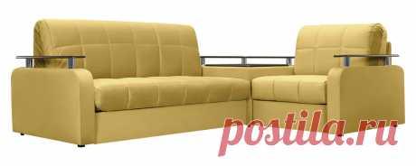 Купить диван тканевый угловой Денвер Люкс Velure оливковый (Велюр) по цене 41 990 рублей в Москве
