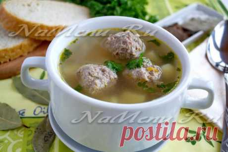Гречневый суп с фрикадельками