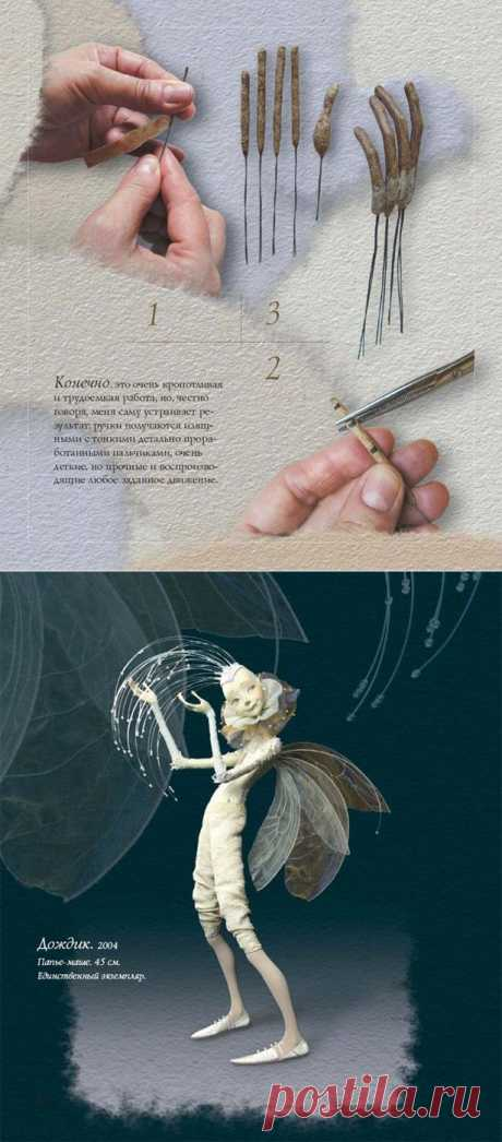 Как делать ручки из папье-маше.