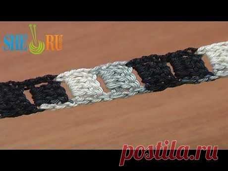 ▶ Вязание крючком шнура с ровными краями - YouTube