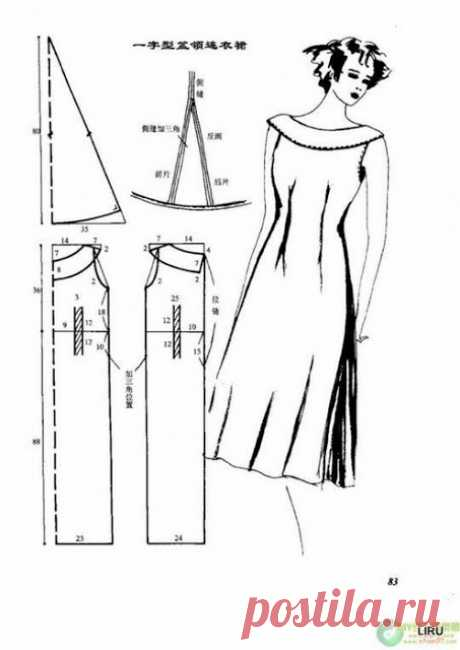 Простые интересные выкройки летних платьев (часть 7)