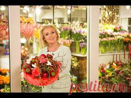 Мастер-класс Марины Петровой: природный материал в новогодних букетах и оформлении магазина