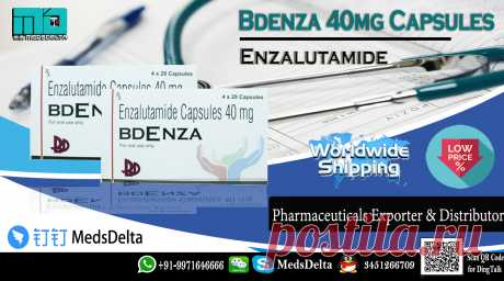 Enzalutamide 40mg Capsules made by BDR Pharma under the brand name Bdenza. Buy now Bdenza Capsules at wholesale price from MedsDelta world-wide leading generic medicines and pharmaceutical wholesaler, supplier, distributors, exporters industry in India. Call/WhatsApp: +91–9971646666, QQ: 3451266709 in order to get Enzalutamide Capsules, Xtandi and its generic worldwide