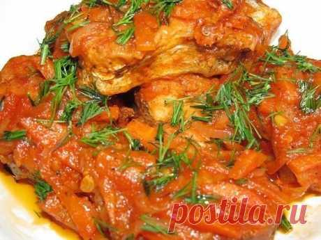 Рыба в томатном соусе, приготовленная по особенному | быстрые рецепты | Яндекс Дзен