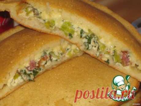 Лепешки с зеленым омлетом - кулинарный рецепт