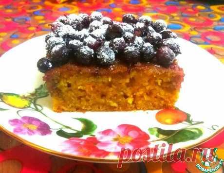 Морковный манник с ягодной пропиткой – кулинарный рецепт
