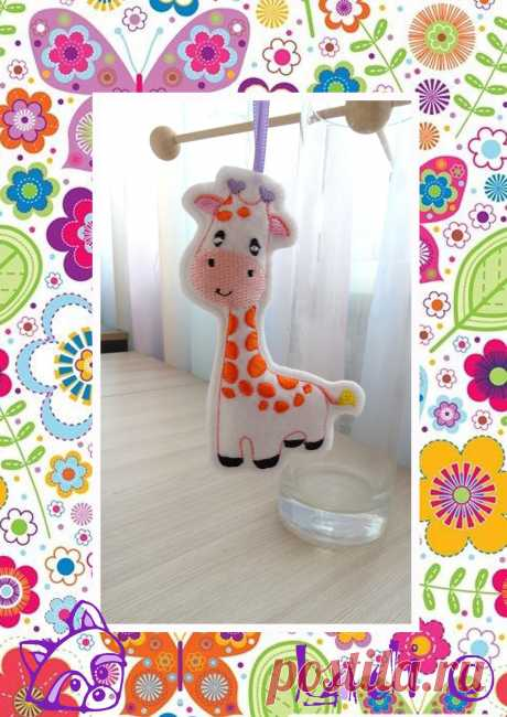 Machine embroidery My little giraffe.A toy of | Etsy