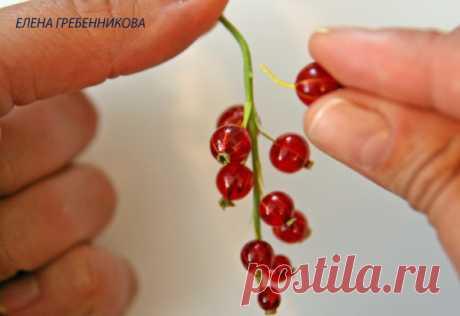 (+3) Красная смородина из... эпоксидной смолы