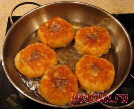Беляши с мясом на кефирном тесте