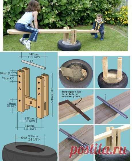 Оформление детской площадки на даче / Рукоделие