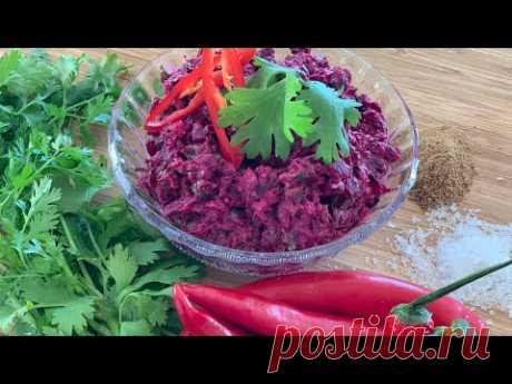 ПХАЛИ: Свекровь научила готовить Изумительную ПИКАНТНУЮ ЗАКУСКУ! Ореховая СВЁКЛА - Грузинские мотивы