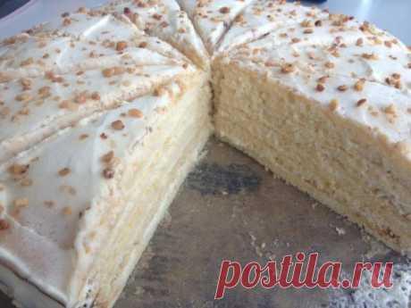 Торт « Молочная девочка» который готовиться за 1 час | лёгкие и вкусные рецепты! | Яндекс Дзен