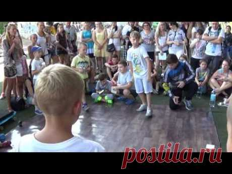 Street dance: Break dance battles beginners. Extreme summer-2016 in Sumy - YouTube