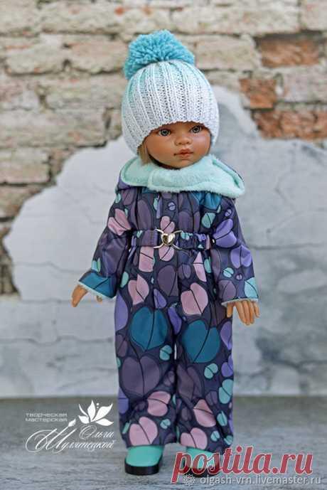 Шьем зимний комбинезон для куклы ростом 32-34 см  публикации и мастер-классы 7e1b445b244