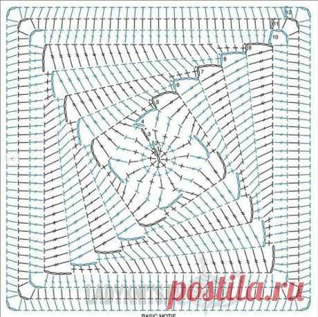 Квадратные мотивы крючком - идеи и схемы   Anna Gri Crochet   Яндекс Дзен