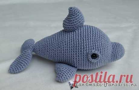 Дельфин крючком. Описание вязания