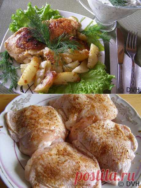 Запеченные куриные бедра с картофелем в мультиварке | Мои любимые рецепты