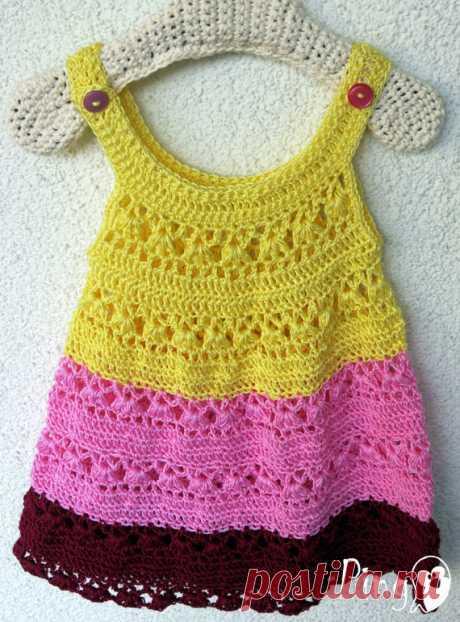 Crochet Dress Pattern Crochet Baby Dress Crochet de ThePinkPingo