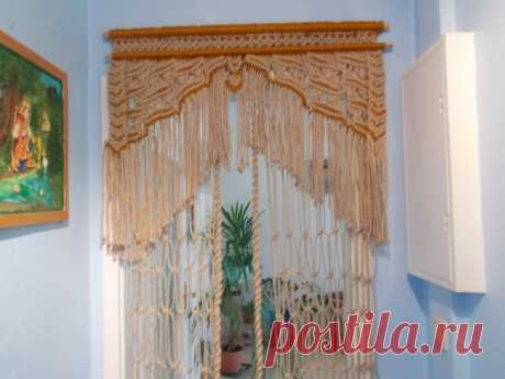 Ещё одна макраме-штора на дверь - запись пользователя adelinagalkina (adelina) в сообществе Прочие виды рукоделия в категории Другие виды рукоделия