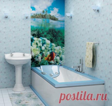 Ремонт в ванной комнате панелями ПВХ: фото вариантов оформления