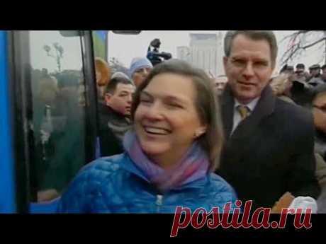 Виктория Нуланд и американский посол раздают печеньки на майдане в Киеве / Украина