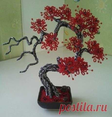 Потрясающие деревья из бисера. / Супер Домохозяйка