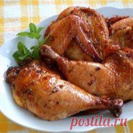 Курица в медово-имбирном соусе