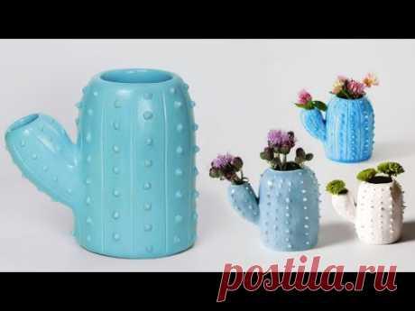 Stylist Flower Vase making    Cement flower vase - Cactus flower vase