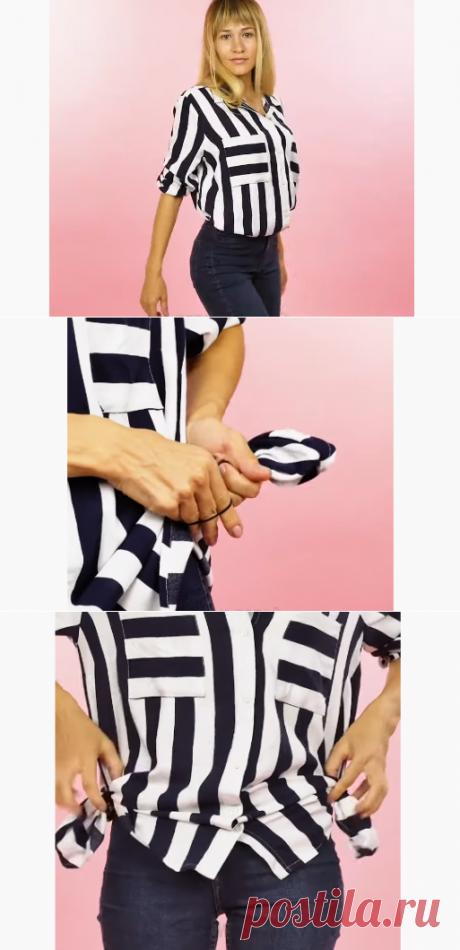 Переделка широкой блузки (DIY) / Блузки / ВТОРАЯ УЛИЦА - Выкройки, мода и современное рукоделие и DIY