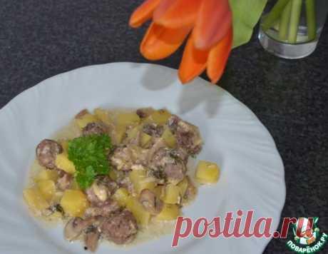 Фрикадельки с картофелем в горшочке – кулинарный рецепт