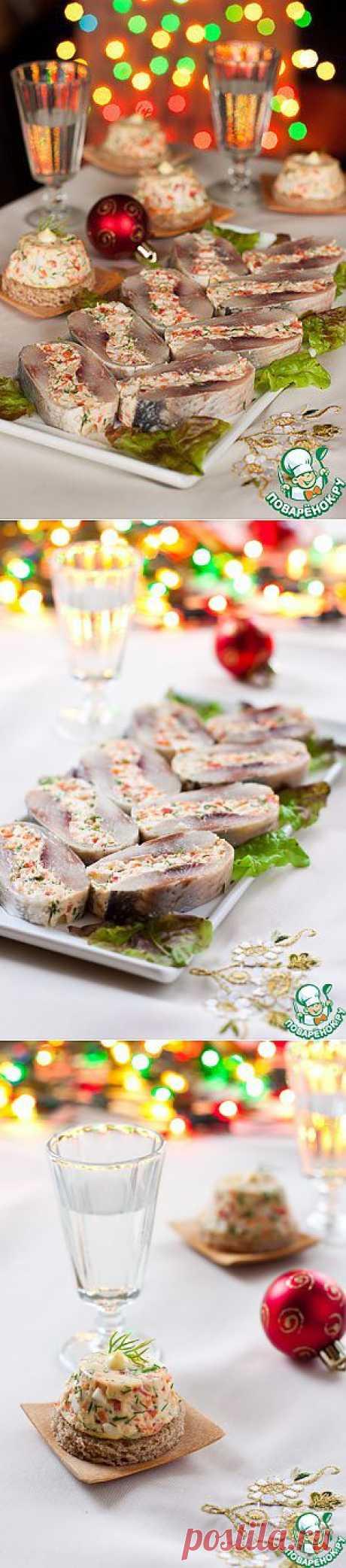 Фаршированная сельдь - кулинарный рецепт