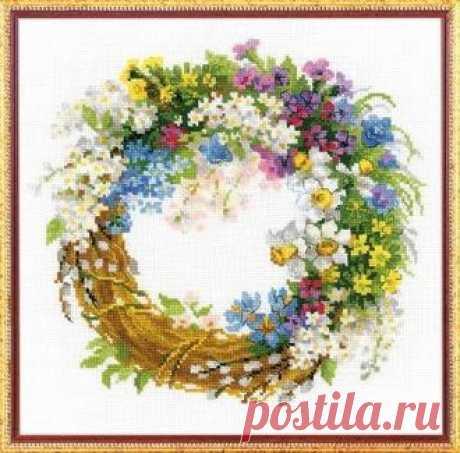 """Риолис - 1536 """"Венок с черемухой"""""""