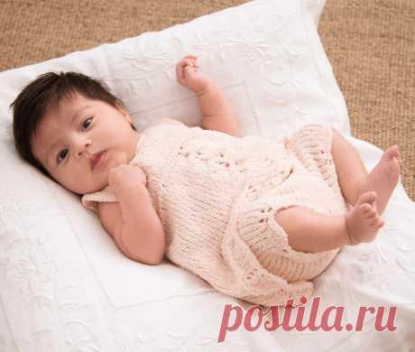 Комплект для новорожденной - схема вязания спицами. Вяжем Комплекты на Verena.ru