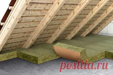 Утепление потолка в доме с холодной крышей: технология монтажа