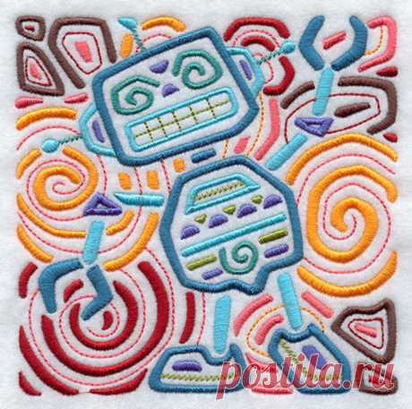 Rockin ' Robot bordado harina saco toalla de mano/plato | Etsy
