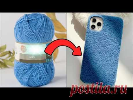 WOOL PLUSH PHONE CASE – DIY Phone Case Life Hack – Easy and Cheap