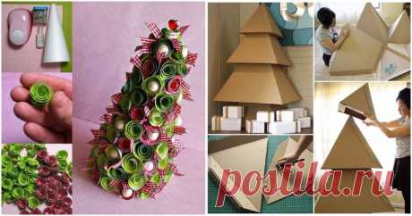 50+ гениальных идей, как сделать новогоднюю елку своими руками ...