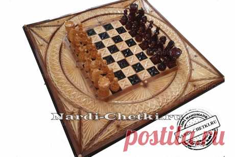 """Купить резные шахматы нарды шашки """"Охота"""""""