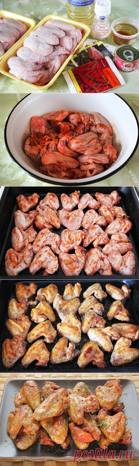 Куриные крылышки в медовом соусе — рецепт с фото пошагово