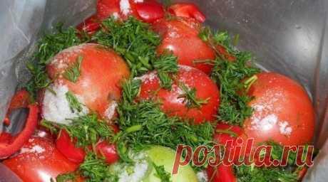 МАРИНУЕМ ПОМИДОРЫ В ПАКЕТАХ | Вкусные рецепты