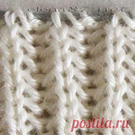Английская резинка спицами Как вязать по кругу Вязание для начинающих