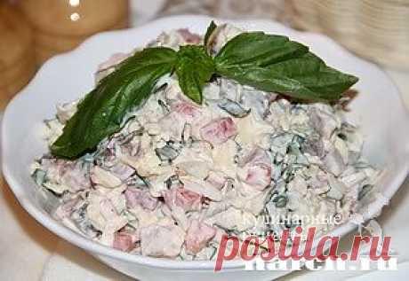 Салат из копчёной скумбрии..