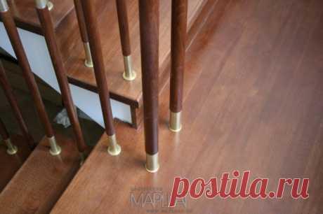 Изготовление лестниц, ограждений, перил Маршаг – Отделка деревом и перила комбинированные