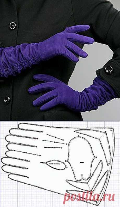 Выкройка перчаток.  | Шьем перчатки самостоятельно!